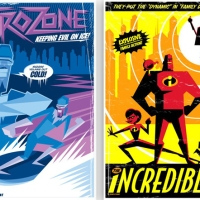 Retro Posters for Pixar's The Incredibles
