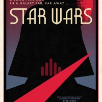 Awesome Limited Edition Darth Vader/Star Wars Poster By Russell Walks