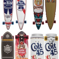 Pabst Brewing Company + Santa Cruz Skateboards = Beer Cruzer Collection