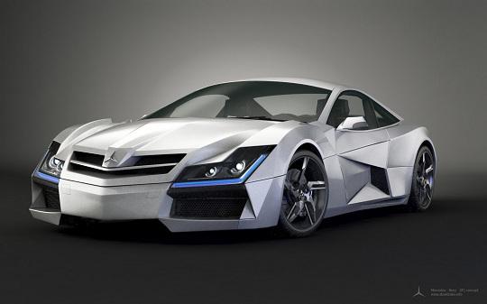 Mercedes Benz Sf1 Concept Car Blurppy