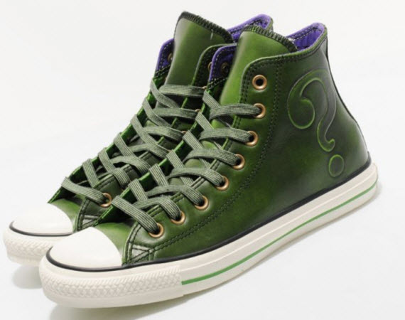 4735ba204aee This collaboration between Converse and DC Comics celebrates the 75th  anniversary of the comic brand. These Riddler inspired All Star Hi s ...