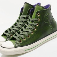 DC Comics x CONVERSE Chuck Taylor All Star Hi Leather = The Riddler