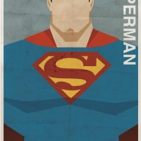 DC Superhero Comic Character Posters Done Vintage Style By Michael Myers