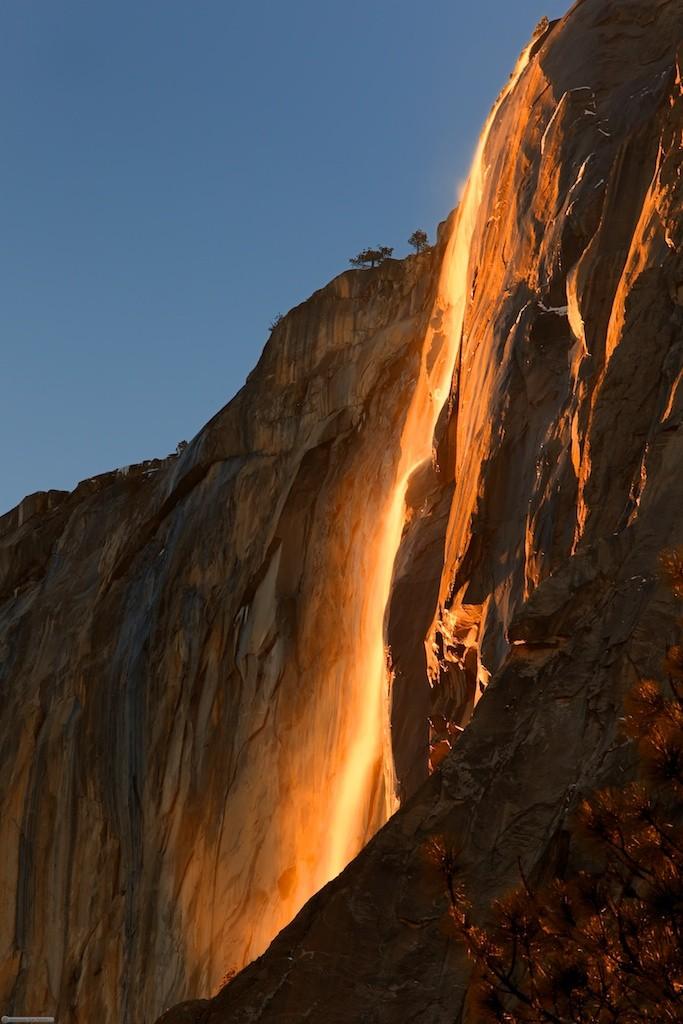 Yosemite's Winter Wonder: The Natural Firefall