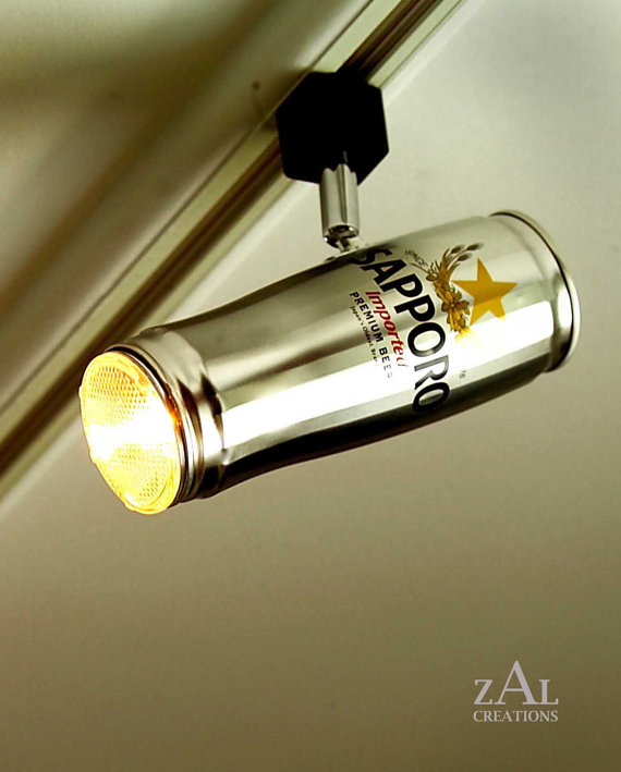 You ... & The Ultimate Man-Cave Lighting System: Beer Can Track Lights | blurppy azcodes.com