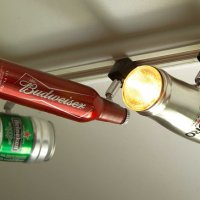The Ultimate Man-Cave Lighting System:  Beer Can Track Lights