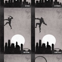 'Climb' Posters:  Villians and Superheroes Doing The Same Thing... Differently