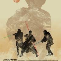 Artist Travis English Commemorates The Release Of Star Wars 3-D With An Amazing New Silhouette Poster Series