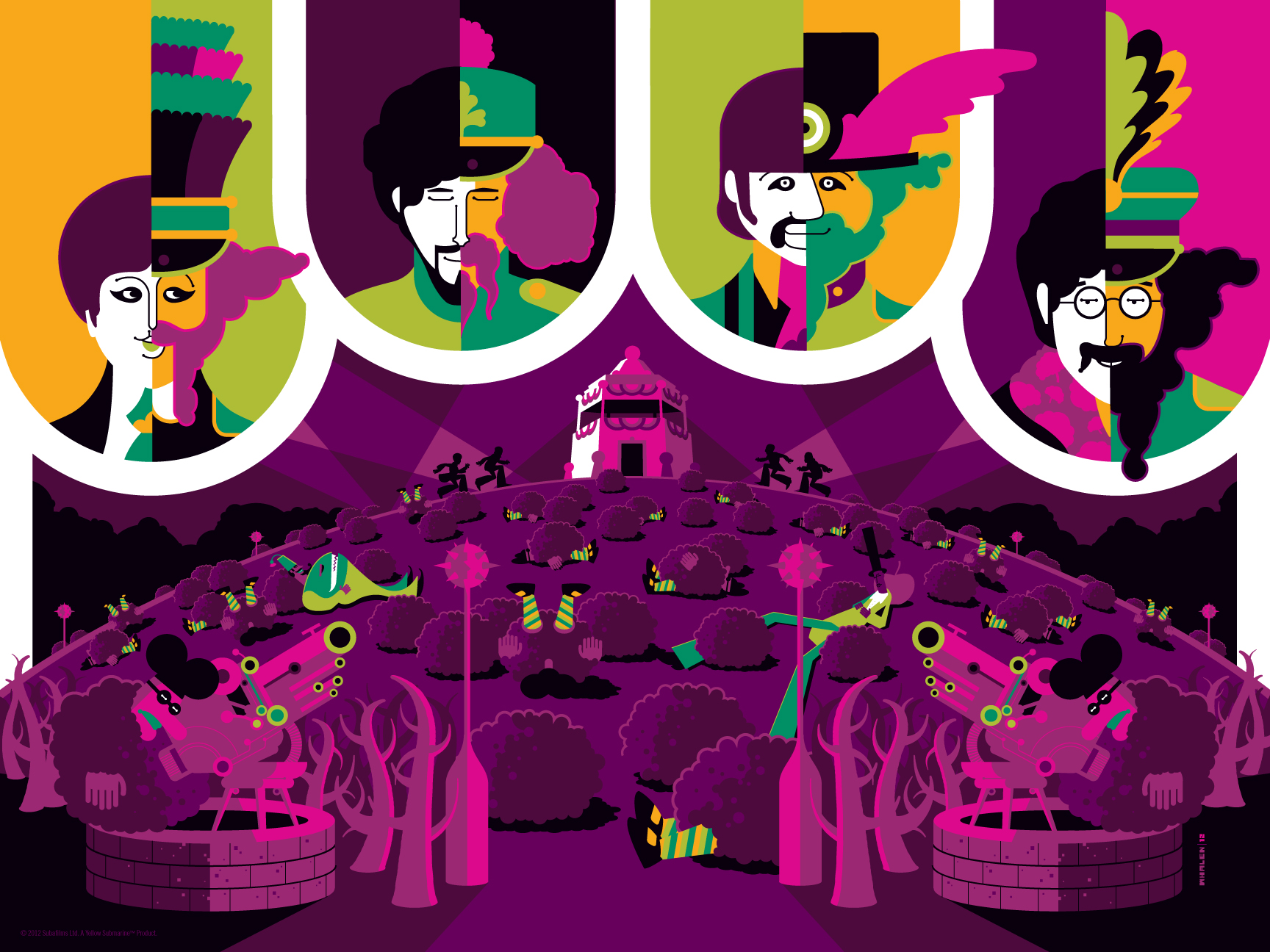 Dark Hall Mansion & Tom Whalen Reveal The Beatles Yellow ...