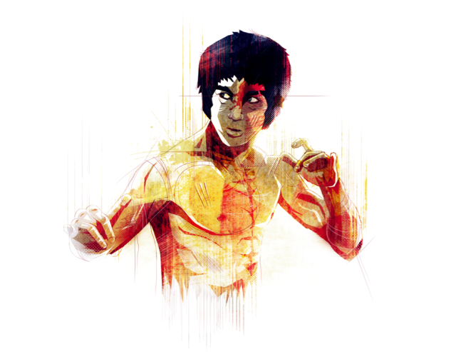 Bruce Lee by Marie Bergeron
