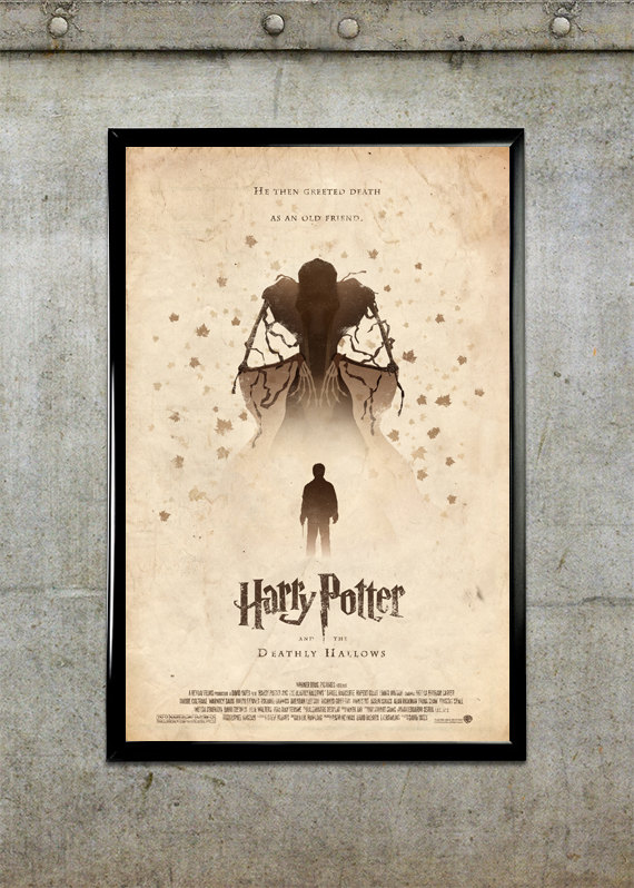 Harry Potter Book Poster ~ Artist adam rabalais selling his brilliant poster
