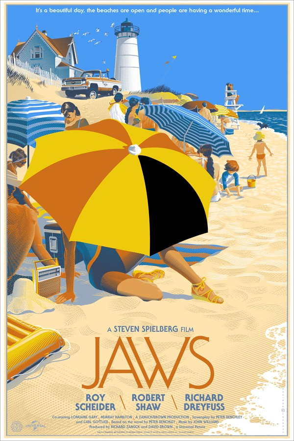Jaws by Laurent Durieux 24X36,  a limited  edition run of 525 - $60