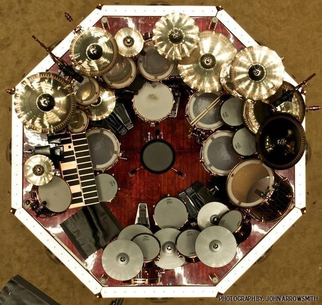 Photo of Rush's Neil Peart Drum Set ...f'n awesome!