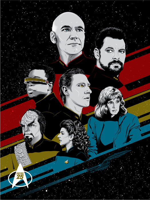 "18 X 24"" Officially licensed Star Trek Merchandise.  Released at Austin Comic Con"