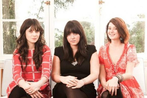 Zooey Deschanel, Sophia Rossi and Molly McAleer