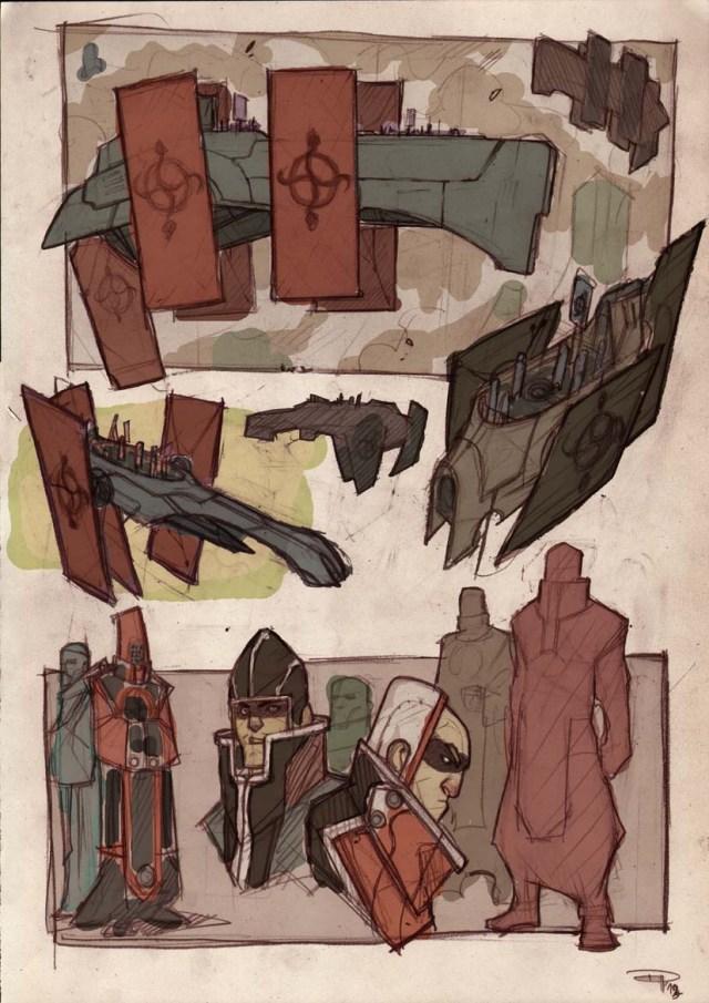 """""""Atlantis The Last Survivor"""" sketches"""
