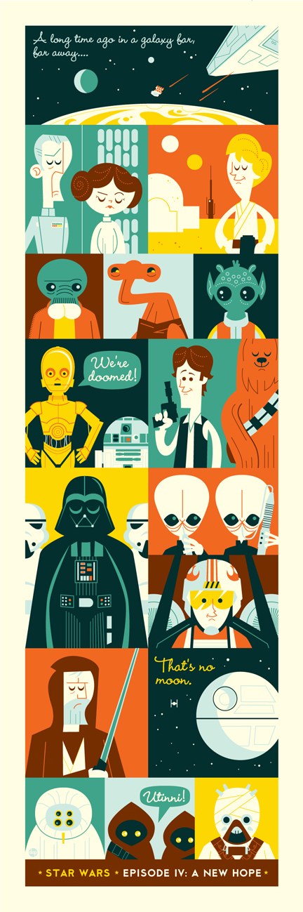 Artist dave perillo's new star wars print from acme archives utinni