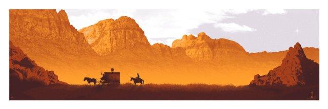 DJANGO UNCHAINED by artist Mark Englert36x12 screen print