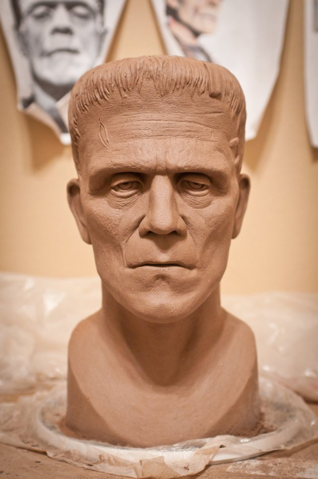 Boris Karloff Frankenstein Sculpture by Adam Rabalais