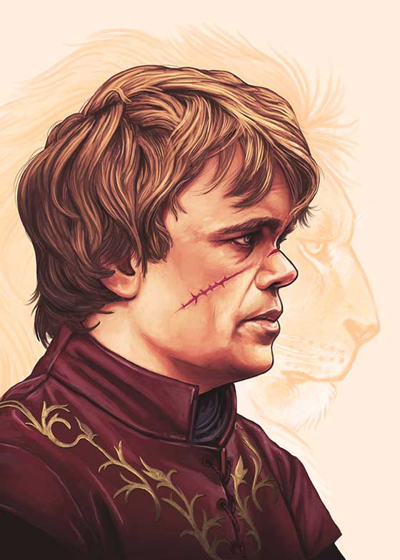"Postcard for Mondo's 2013 ""Game of Thrones"" event, by Mike Mitchell"