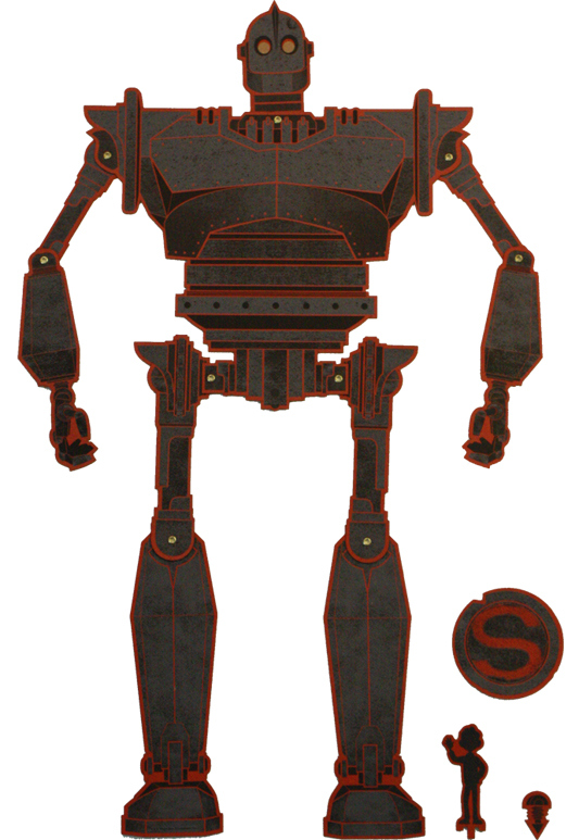 Iron Giant with 9 points of jointed articulation - Kevin Tong