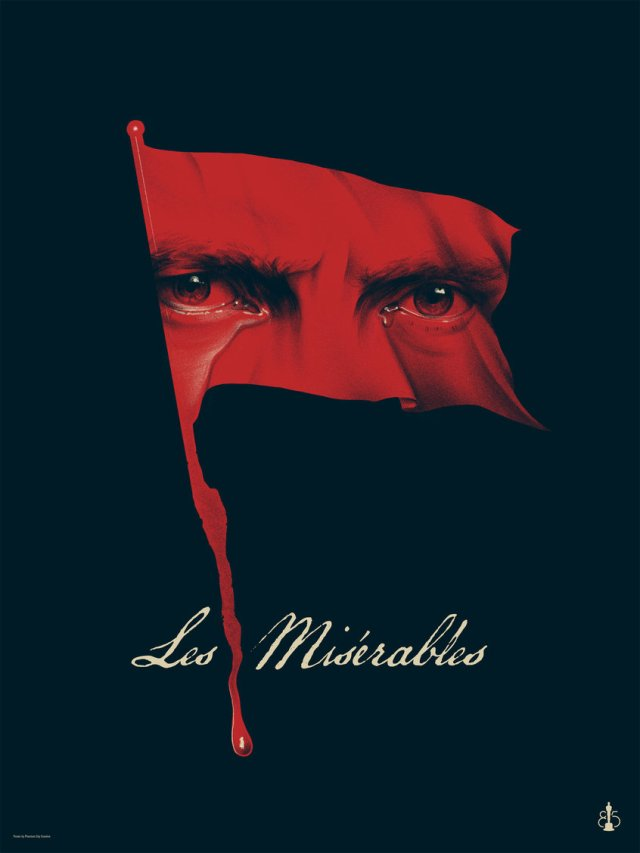 LES MISÉRABLES by Phantom City Creative18x24 screen print