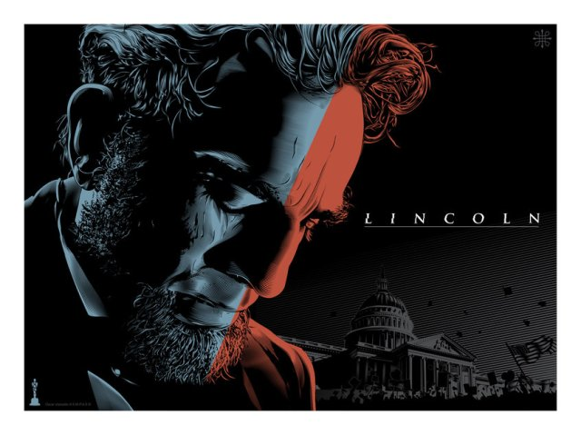 LINCOLN by artist Jeff Boyes18x24 screen print