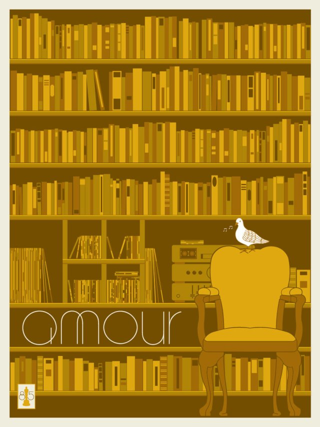 AMOUR by artist Matt Owen.18x24 screen print