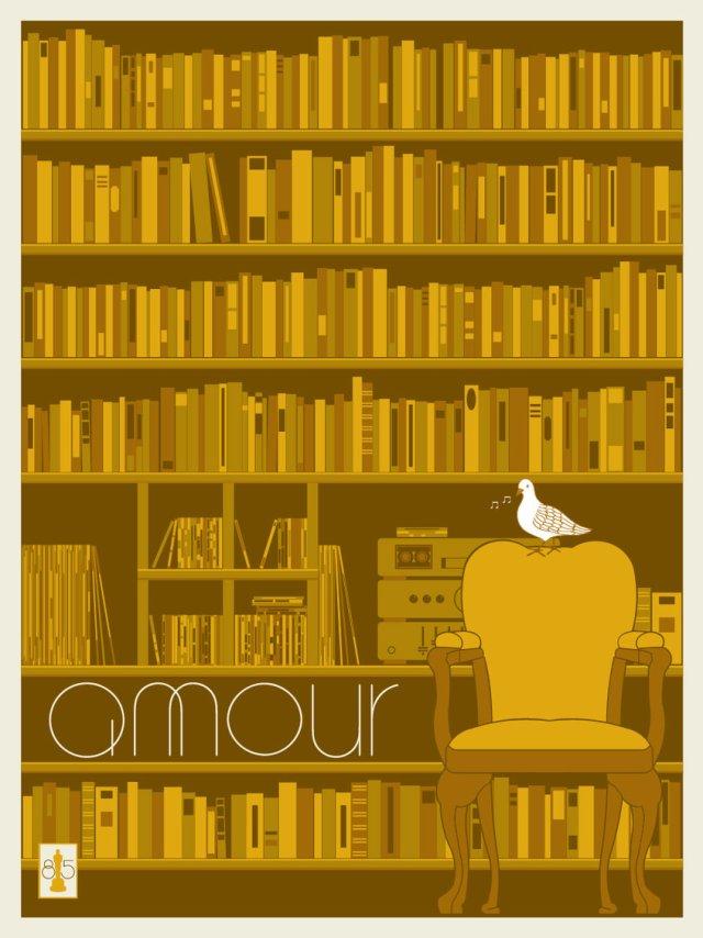 AMOUR by artist Matt Owen.18x24 screen print