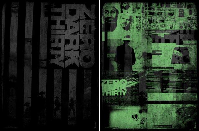 ZERO DARK THIRTY by Godmachine18x24 screen print