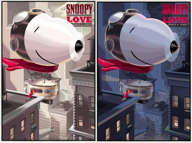 "-0Peanuts Valentine's Day Prints by Laurent Durieux - ""Snoopy LOVE"" Standard Edition & My Blue Valentine Variant Edition ""Snoopy LOVE"""