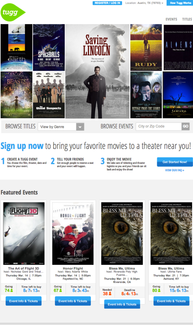 Tugg - The movies you want at your local theater