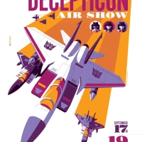"Acid Free Gallery Offering Tom Whalen's ""DECEPTICON Air Show"" Prints TODAY (4/19) At 12:30 EST"