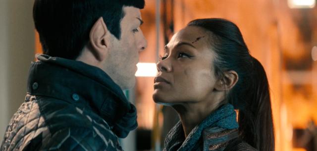 -Zachary Quinto Zoe Saldana Spock and Uhura
