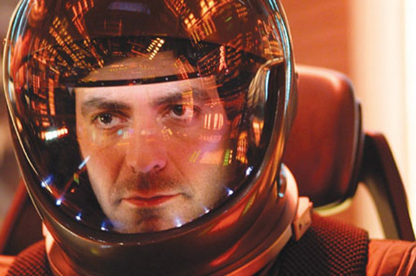 ... Sandra Bullock plays Dr. Ryan Stone, a brilliant medical engineer on her first shuttle mission, with veteran astronaut Matt Kowalsky (George Clooney) in ... - george-clooney-gravity