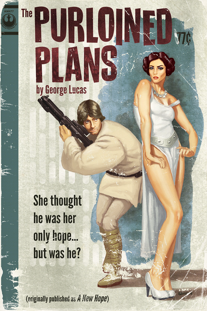 Check Out Artist Tim Anderson S New Star Wars Pulp Covers
