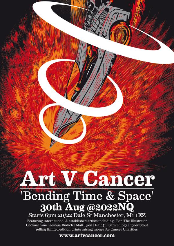 Art V Cancer Bending Time & Space Poster