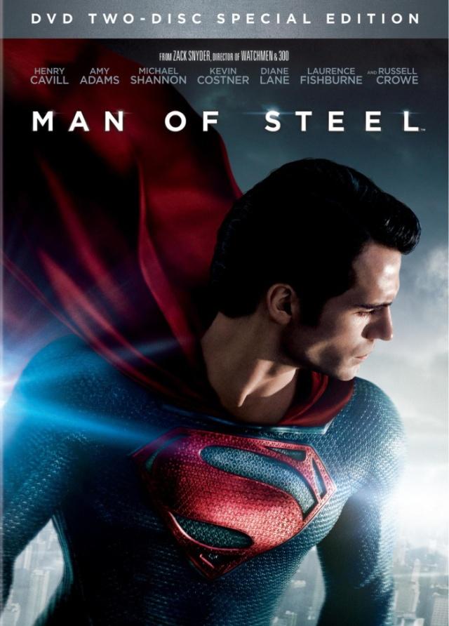Man of steel DVD box art