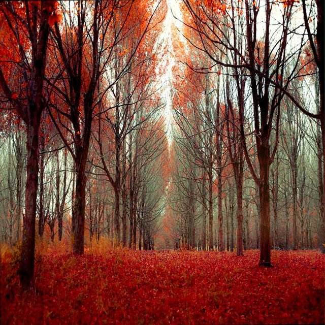 -red leaves