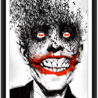 "Jock Is Doing A Timed Release Print For His ""Joker: The Black Mirror"" This Wednesday 8/7/13"