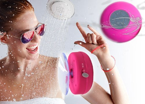 Abco Tech Waterproof Wireless Bluetooth Shower Speaker Handsfree