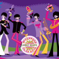 "Get Ready For Dark Hall Mansion's Psychedelic Beatles Print: ""May I Introduce To You"" By SHAG"