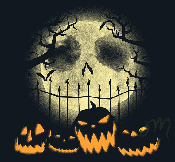 "... ""Nightmare Before Christmas"" Print By Jacob McAlister 