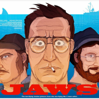 "TONIGHT! Hero Complex Gallery Partners With PangeaSeed For A ""Jaws"" Themed Exhibit: ""Smile You Son Of A Bitch"""