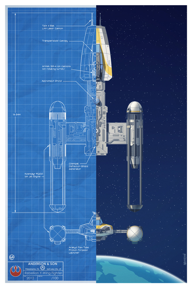 timothy anderson heads back to the star wars universe with an incredible blueprint for slave 1. Black Bedroom Furniture Sets. Home Design Ideas