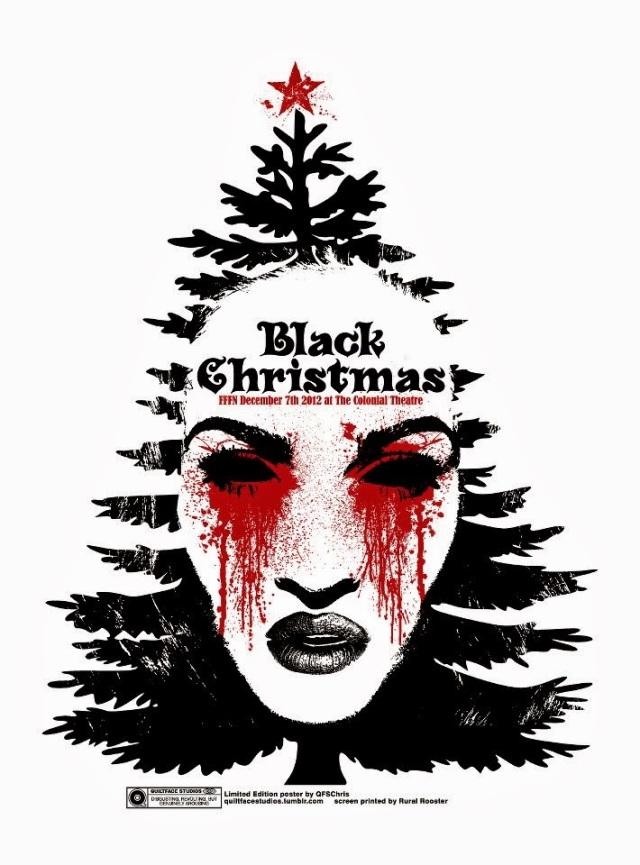 black christmas print