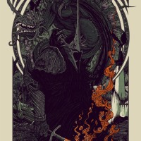 "Today, 12/17/13, Mondo Is Releasing An All New Print By Florian Bertmer: ""Witch King and Fell Beast"""