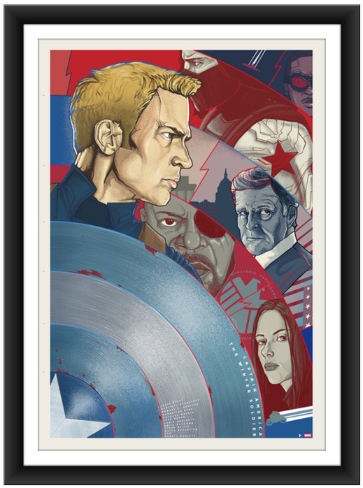 Berkay Daglar Captain America Print Version