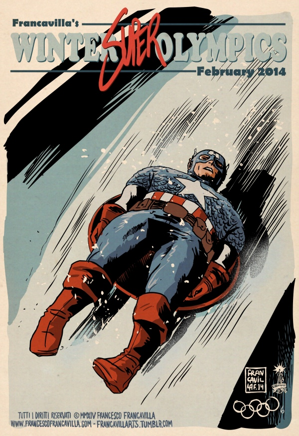 Olympics-Captain-America-Francavilla