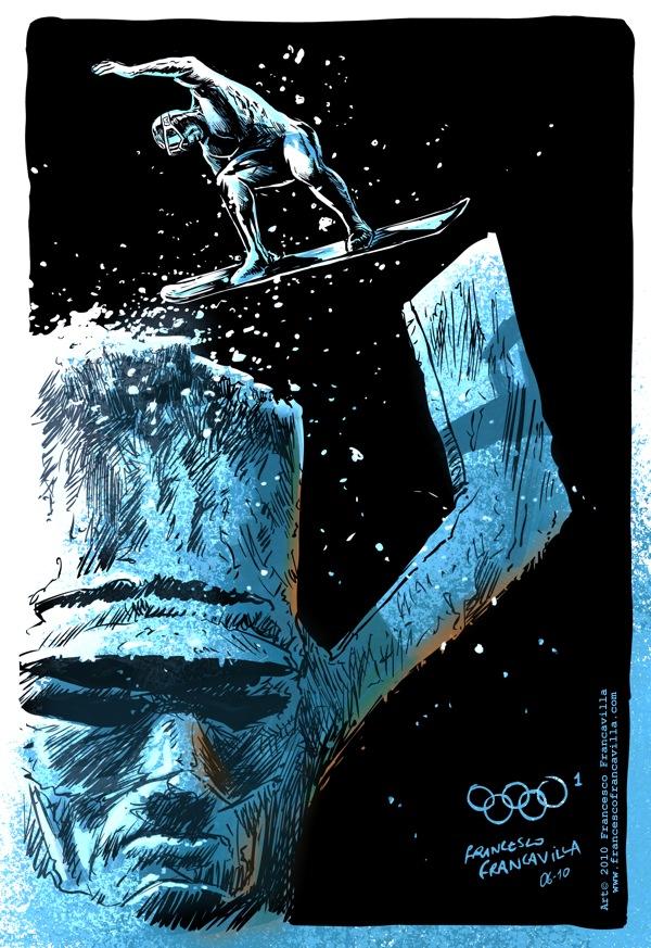 Olympics-silver-surfer-francavilla